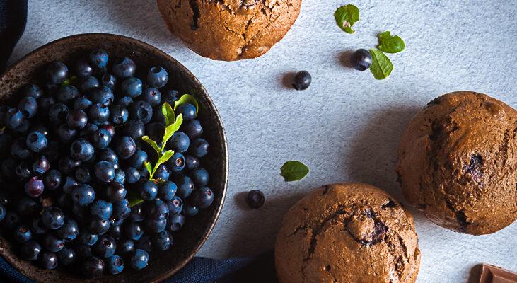Šokolaadimuffinid mustikatega